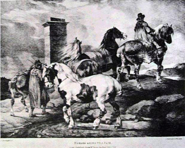 Gericault's Horses Going On To The Fair