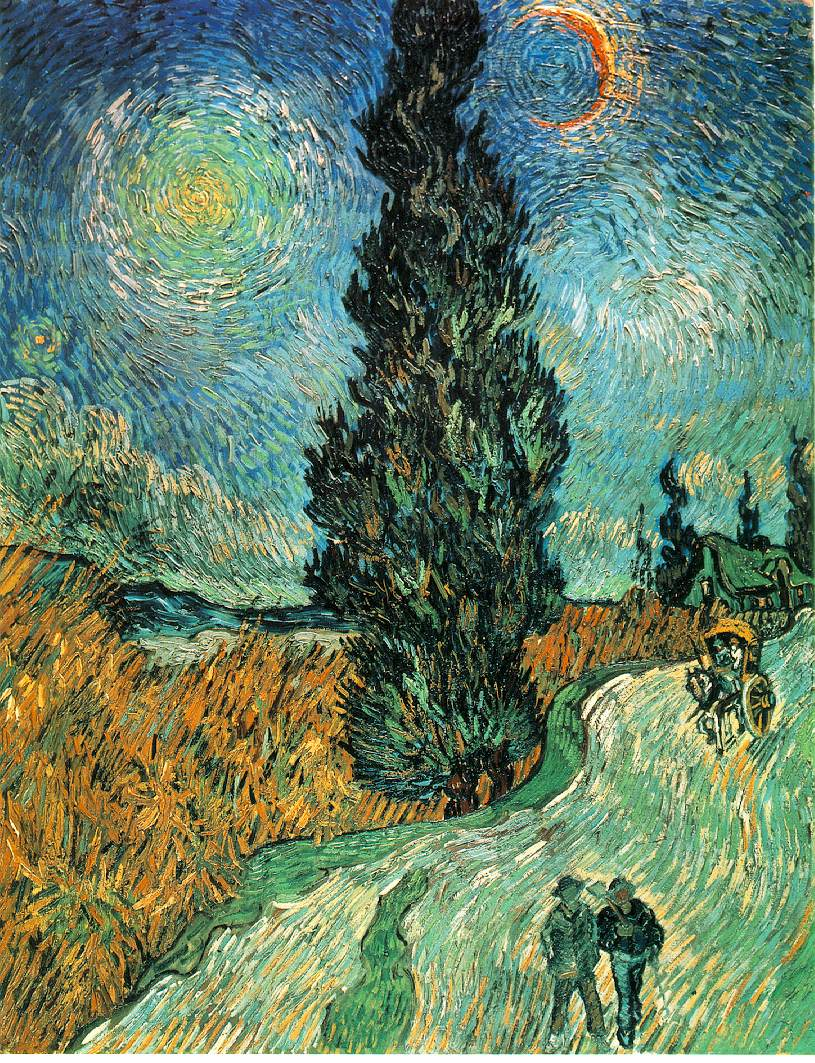 van Gogh's Road With Cypress & Star