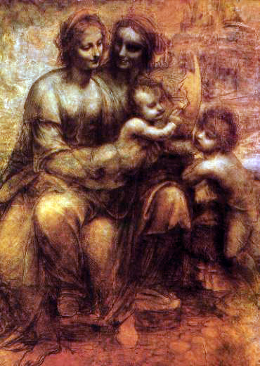 da Vinci's Virgin & Child With The Infant John The Baptist (detail)