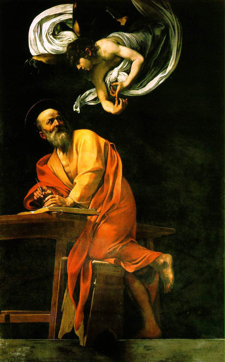 Caravaggio's Inspiration of St. Matthew