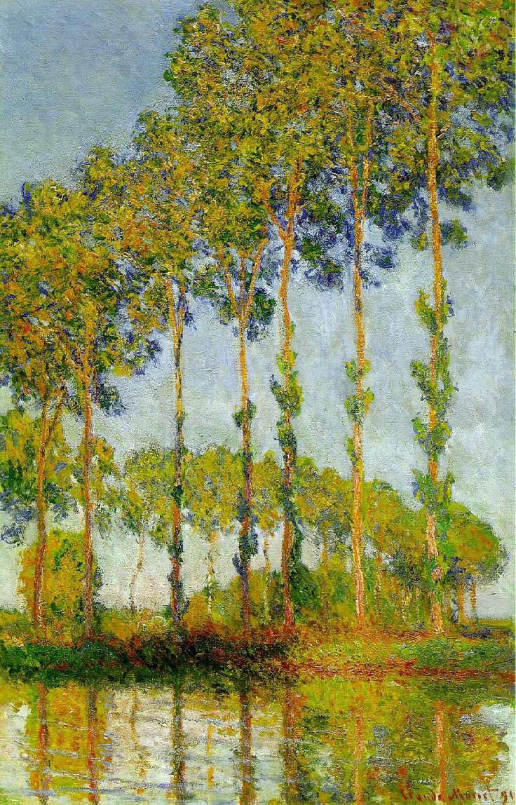 Monet's Poplars Along The Epte, Autumn